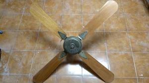 Ventilador De Techo Con Aspas De Madera