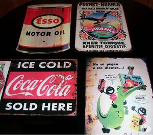 carteles vintage de chapa pintados pesos 300