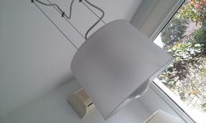lampara de techo colgante con pantalla de vidrio esmerilado