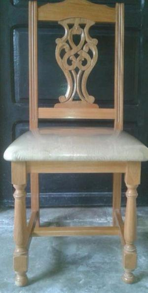 vendo juego de sillas de roble macizo