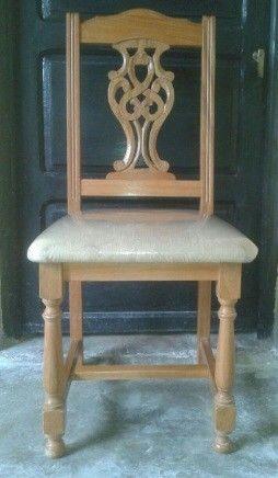 vendo juego de sillas roble macizo