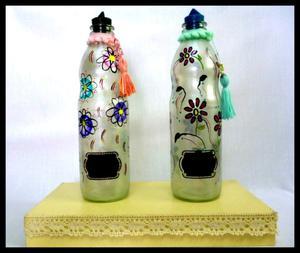 Botella Decoradas Pintadas A Mano