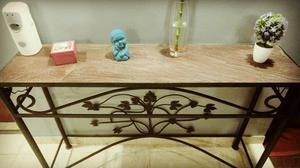 Mesa de arrime- recibidor Hierro y madera