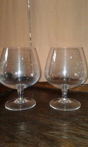 Set de copones de Cognac de cristal