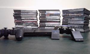 Vendo PlayStation 2 Slim + 2 Joystick + 50 Juegos +