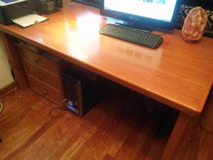 escritorio madera maciza enchapado