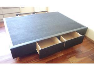Cama Con Cajones Box Sommier Tarima Posot Class