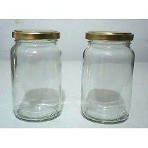 Frascos de de vidrio de mermelada