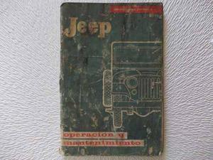 Manual Fabrica I. K. A. Jeep.... O R I G I N A L