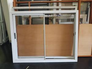Ventana Aluminio Blanca 180x149 Con Vidrio Reforzada
