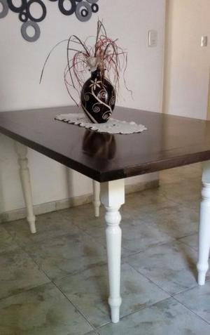 Gran mesa comedor madera nogal estilo windsor nórdico