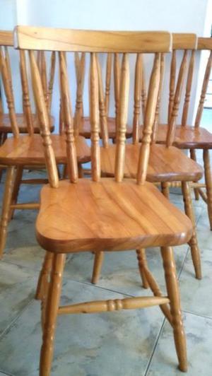 Juego 6 sillas laqueadas estilo nórdico windsor boston