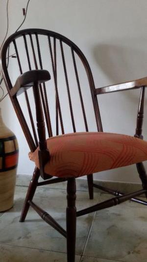 Sillon poltrona 1 cuerpo estilo windsor madera roble