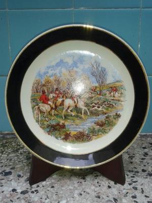 plato antiguo decorativo de porcelana manchester