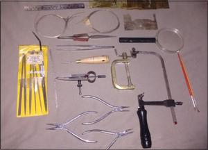vendo lote de herramientas para aeromodelismo
