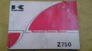 Kawasaki Z 750 Manual De Usuario Original