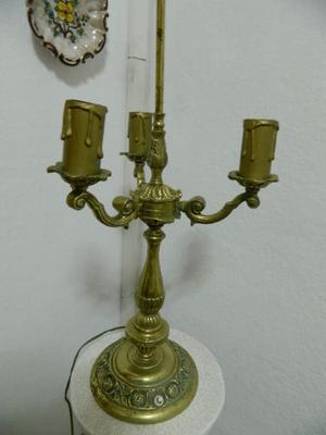 Antiguo Candelabro bronce