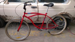 Bicicleta playera roja