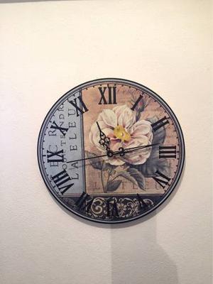 Reloj pared estilo vintage con reja posot class for Reloj pared retro