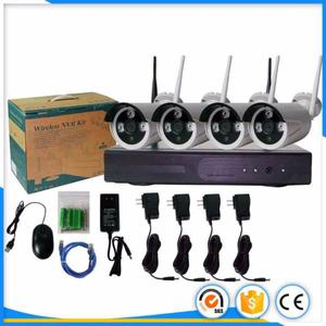 Camaras de seguridad inalambricas WIFI x4 HD 1mp+NVR+nuevas
