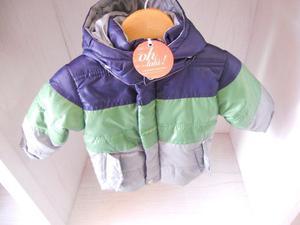 Campera Impermeable Para Bebé Forrada En Polar
