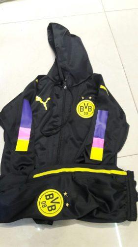Conjunto Campera Pantalón Niño Borussia Dortmund