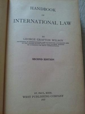 International Law Autor George Grafton Wilson. Minnessota