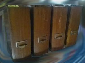 Set De 4 Carpeteros Guarda Papeles/revistas