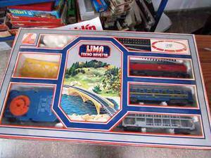 Set De Trenes Lima En Caja Completo Muy Bueno