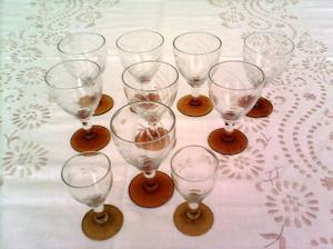 copas de licor o jerez, 10 en total