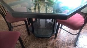 excelente juego de comedor mesa y sillas x mudanza