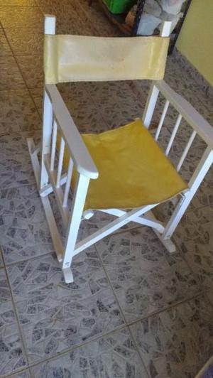 silla madera mecedora