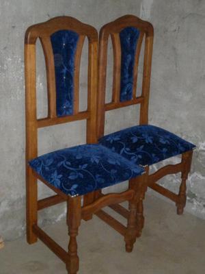 sillas de algarrobo tapizadas