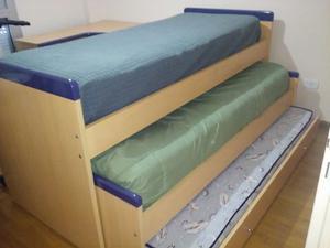 Juego De Dormitorio Funcional Cama Nido Triple