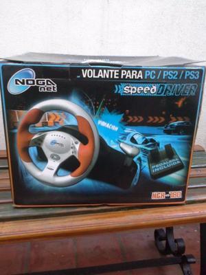Volante pc play2 play3 noganet nuevo sin uso con caja