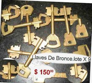 lote de llaves de bronce en total hay de 10,pra adornos! un