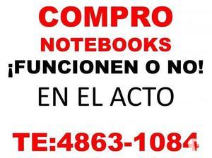 DINERO EN EL ACTO COMPRO NOTEBOOKS te: