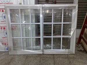 Puerta ventana x aluminio blanco c vidrio posot class for Ventana balcon medidas