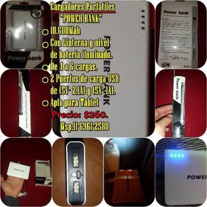 Cargadores Portatiles Power bank Mah con linterna