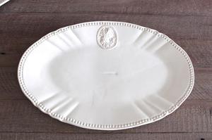Plato Oval Ceramica Linea Queen Set De 4 (35cm X 21cm)