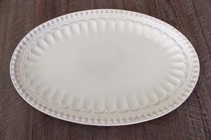 Plato Oval Ceramica Linea Romana 40cm Set De 4