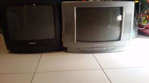 """Vendo 2 TV color 14"""" + Soportes"""