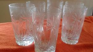Juego De 6 Vasos Labrados Antiguos