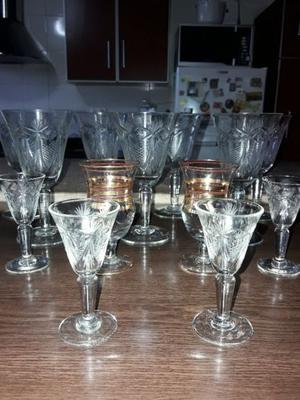 Lote de 13 copas antiguas