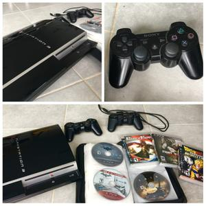 Playstation 3 + 2 controles + 9 juegos (God of war 3,