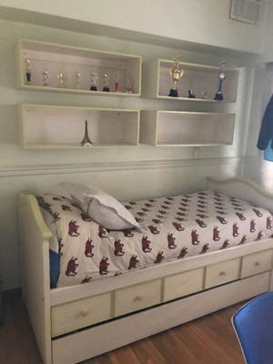 cama 1 plaza y 4 nichos