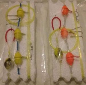 linea aceituna de 3 boyas para pesca de pejerrey rio/laguna