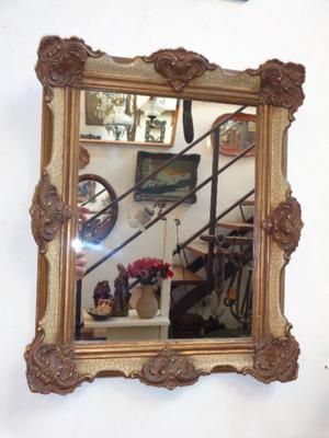 Exquisito espejo marco antiguo francés. Antigua Saudade