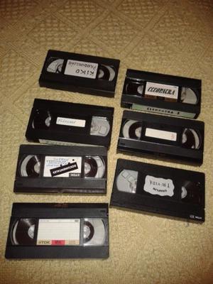 Lote de cassettes de video usados