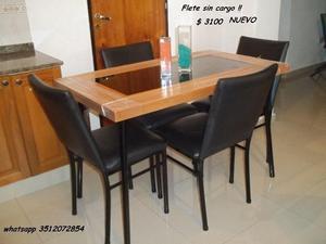 TODO NUEVO !! a ESTRENAR !! Mesa y 4 sillas flete sin cargo